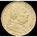 20F OR - Louis XVIII buste habillé