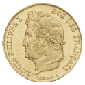 20F OR - Louis Philippe Ier tête laurée